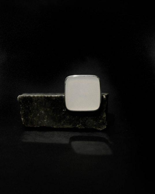 cacholong opāla gredzens, sudraba gredzens, sudraba gredzens, gredzens ar opalu, opāla gredzens
