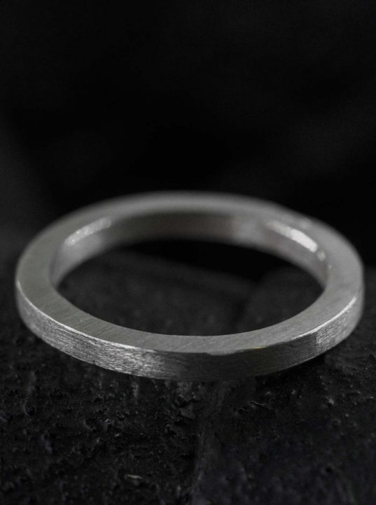matte silver band ring. simplicity and elegance in form and material. it's a classic value to rely on. wear just one or combine multiple pieces and create your own special 090120 ring artwork on your hands. we call it modern classic.