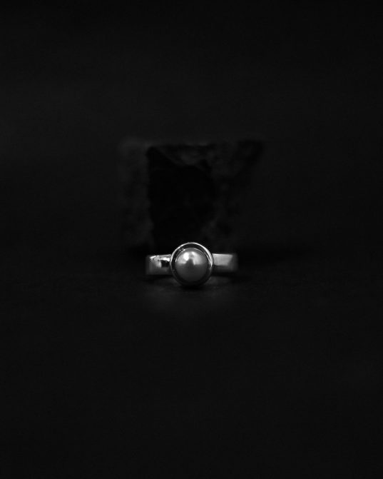 set a sophisticated and gentle tone with this sublime pearl ring that's buffed to a brilliant lustre ___crafted in sterling silver, this tailored ring features a luminous 7 mm cultured freshwater pearl ___a chic look you'll love to wear.