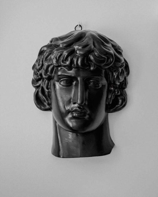 ANTINOUS plaster head by Rihards Ābeltiņš