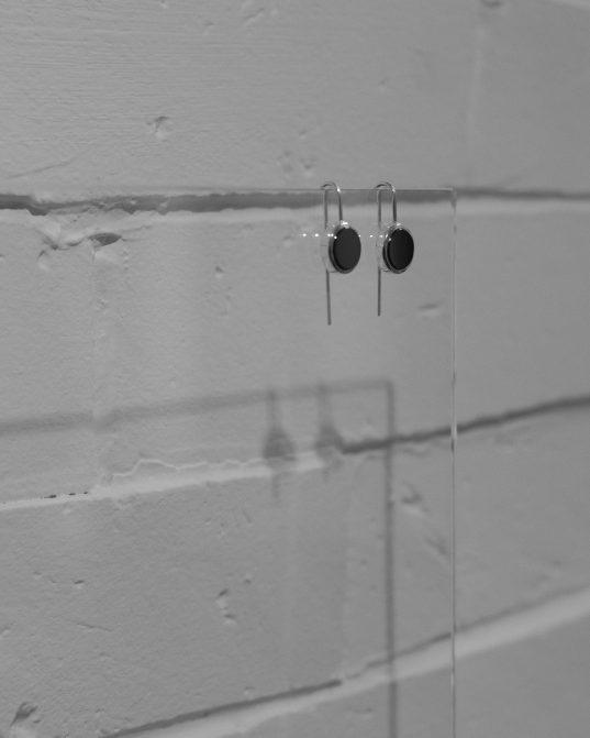 round onyx earrings
